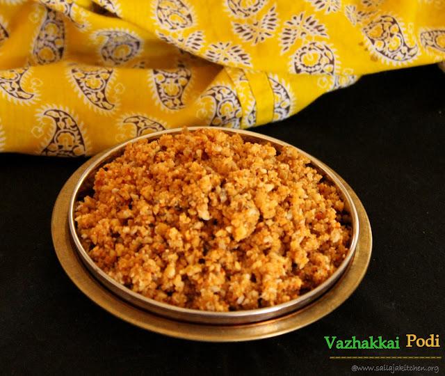 images of Vazhakkai Podi / Valakai Podi / Raw Banana Powder / Raw Banana Podi / Raw Plantain Crumble