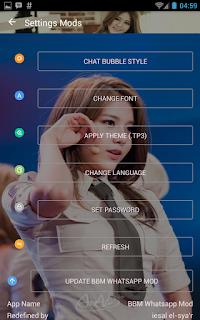 BBM MOD AOA Hyejeong v3.0.1.25 APK Terbaru