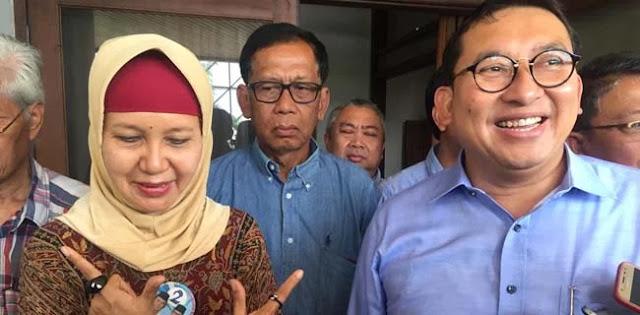 Kisahnya Viral, Fadli Zon Kunjungi Perempuan Pemasang Baliho Prabowo-Sandi