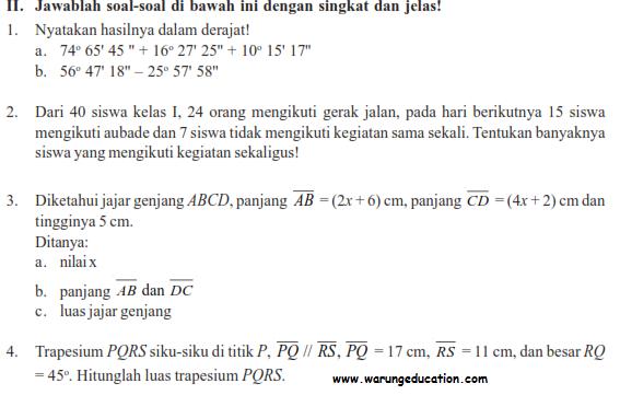 download soal uas genap matematika smp ktsp semester 2/ ukk
