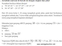 Soal UKK Matematika SMP Kelas 7