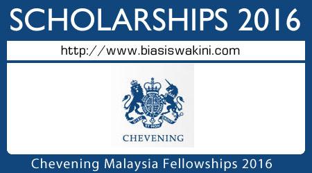 Chevening Fellowships Malaysia 2016