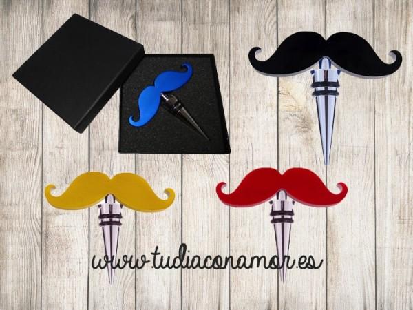 Si buscáis un detalle diferente, divertido y original para sorprender a vuestros invitados, estos tapones tan modernos con bigote son el regalo perfecto para vosotros