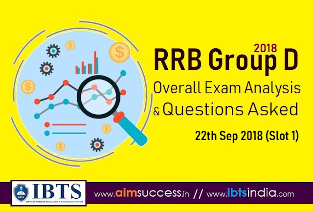 RRB Group D Exam Analysis 22th Sep 2018 & Questions Asked (Slot 1)