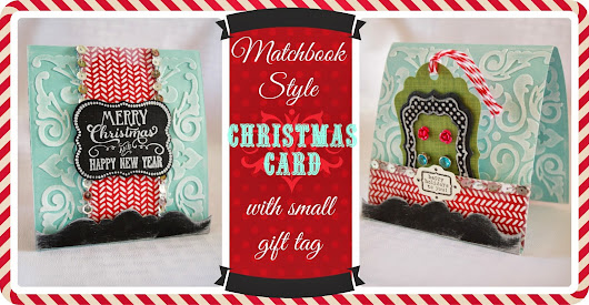 Birds and Soap, Soap and Birds: Matchbook Style Christmas Card and Gift Holder