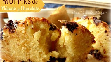 Receta de muffins de Plátano y Chocolate