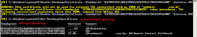 """451 4.4.0 Primary target IP address responded with: """"454 4.7.5 Certificate validation failure"""