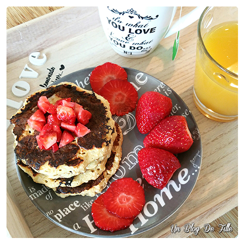 un blog de fille recette pancake healthy flocons d 39 avoine banane et fromage blanc. Black Bedroom Furniture Sets. Home Design Ideas