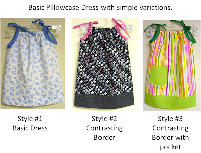 Pillowcase style dress pattern