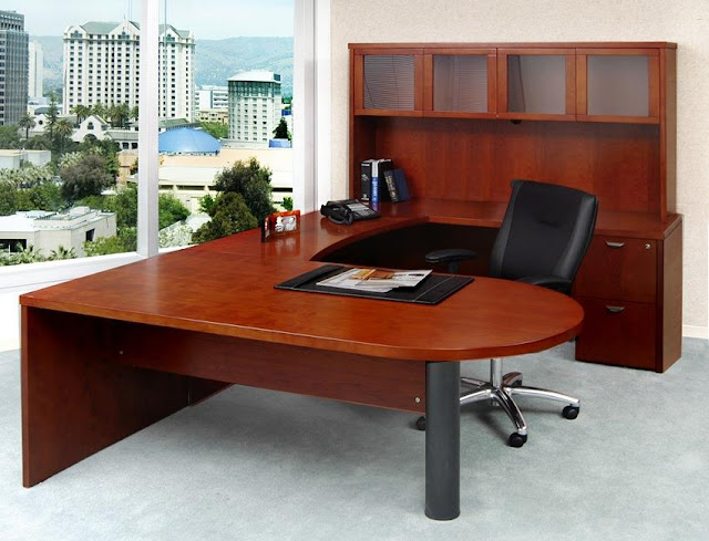 where to buy cheap office desk u shaped with hutch for sale