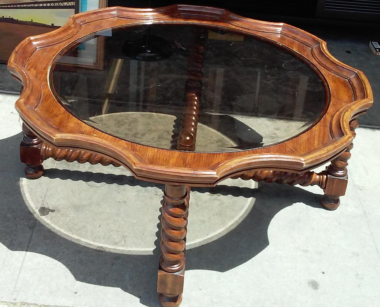 Uhuru Furniture Collectibles Sold Bargain Buy 989 40 Diameter Barley Twist Coffee Table
