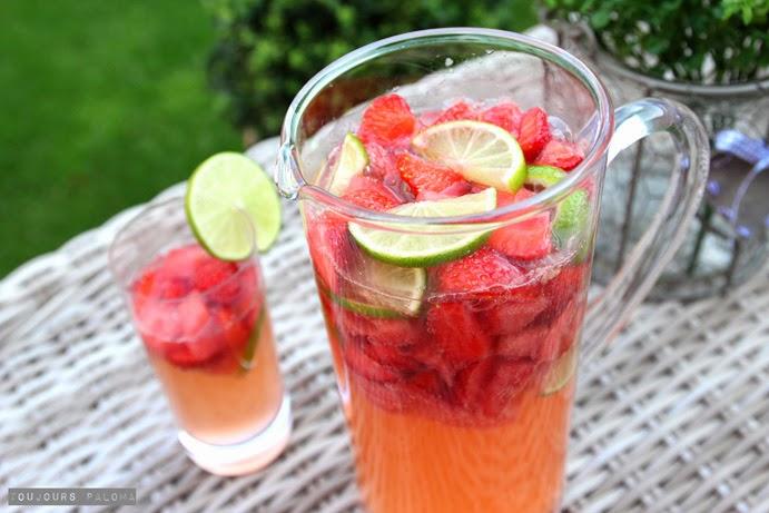 fruchtbowle mit sekt