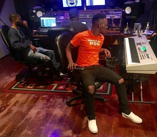 Dammy Krane pictured in studio in Maimi as he prepares to appear in court on Friday