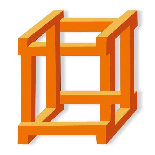 Çıtaları imkansız bir şekilde birbiri ardından geçen 3D paradoks kutu