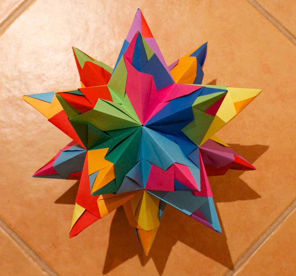 Puulihuna: 20-pointed origami paper star - photo#39