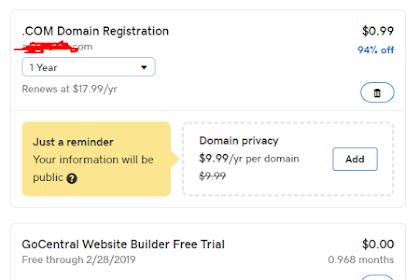 Promo Domain Murah Dengan Aba-Aba Cupon Sebesar 0.99$ Dari Godaddy Terbaru 2019