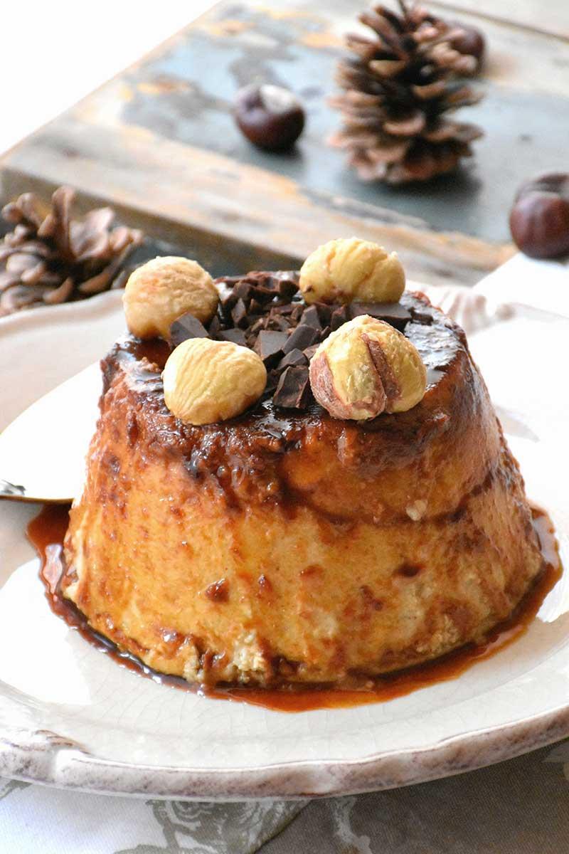 Flan de castaña — Chez Silvia
