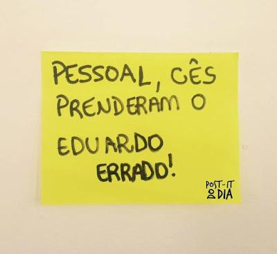 PM de São Paulo prendeu o Eduardo certo no lugar do errado