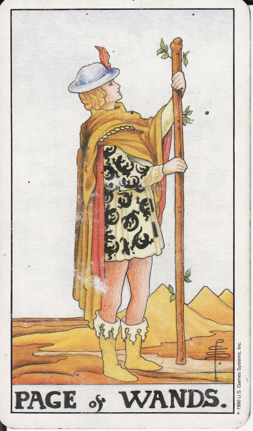 TAROT - The Royal Road: PAGE OF WANDS