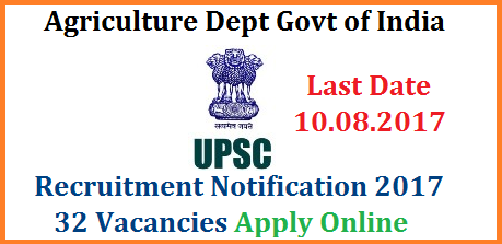 Govt of  India Agriculture Dept 32 Marketing Officers Recruitment Notification Apply Online @upsconline.nic.in  UNION PUBLIC SERVICE COMMISSION INVITES ONLINE RECRUITMENT APPLICATIONS ORA FOR RECRUITMENT BY SELECTION TO THE FOLLOWING POSTS by using the website http://www.upsconline.nic.in Recruitment of Marketing Officers Specialist Grade II Officers Assistant Chemist in Survey, Training & Quality Control), Directorate of Marketing & Inspection, Department of Agriculture , Cooperation & Farmers Welfare, Ministry of Agriculture & Farmers Welfare Dept Government of India govt-of-india-agriculture-dept-32-vacancies-recruitment-ora-apply-online