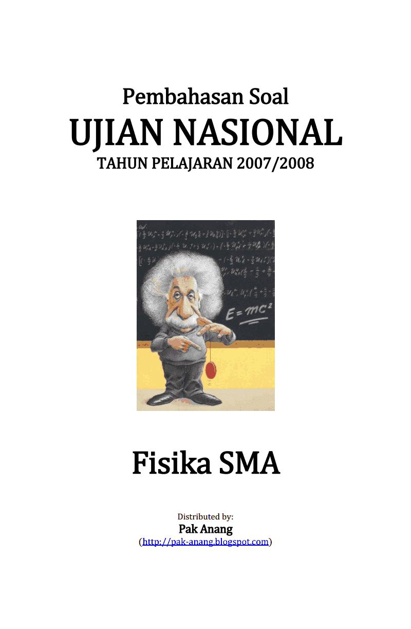 Pembahasan Soal Un Fisika Sma 2008 Informasi Pendidikan