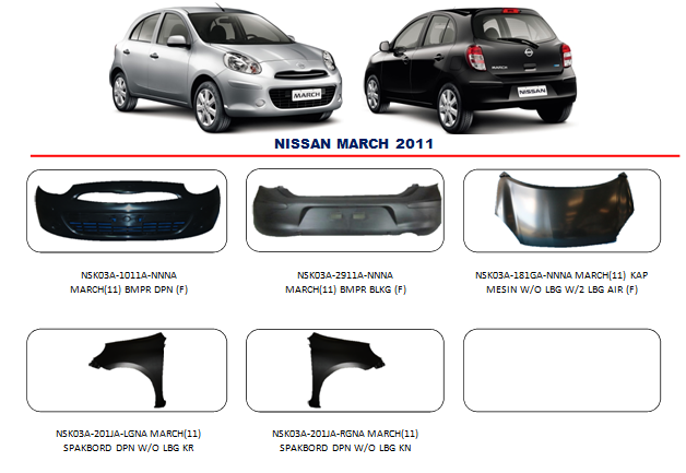 Bemper Nissan March 2011