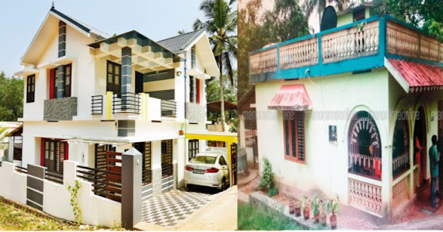 house before and after pictures | Kerala house renovation