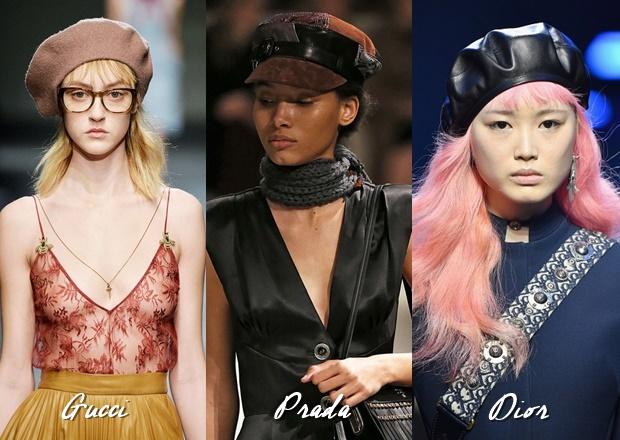 Boinas Dior, Prada e Gucci, Moda 2018, Como usar boina, a volta da boina, como usar quepe, beret, moda retrô, moda vintage