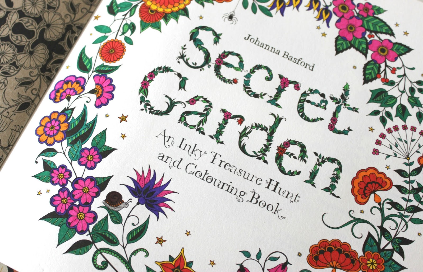 Secret Garden An Inky Treasure Hunt And Colouring Book Away Anxiety Tattooed Tealady Johanna Basford