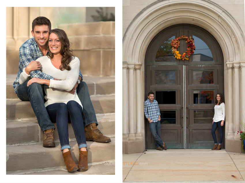 St Mary's Royal Oak Engagement Photography Session - Sudeep Studio.com Ann Arbor Photographer
