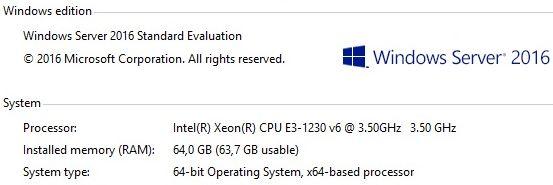 Intel® Xeon® E3-1230V6