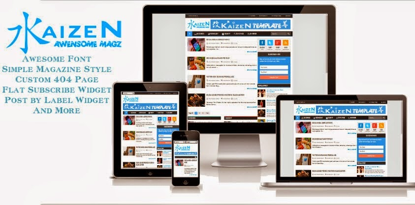 Download Kaizen Awesome Magz Blogger Template