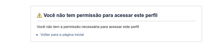 Perfil bloqueado no Facebook