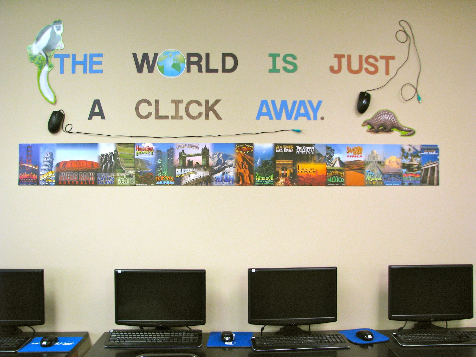 Computer Lab Decoration ~ Homemadeville your place for homemade inspiration