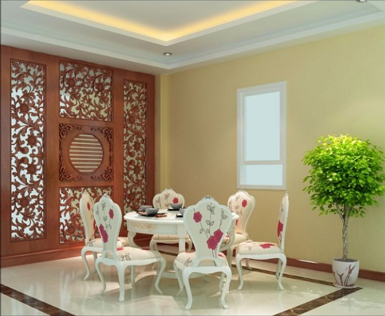 Vách ngăn gỗ cnc đẹp cho phòng khách