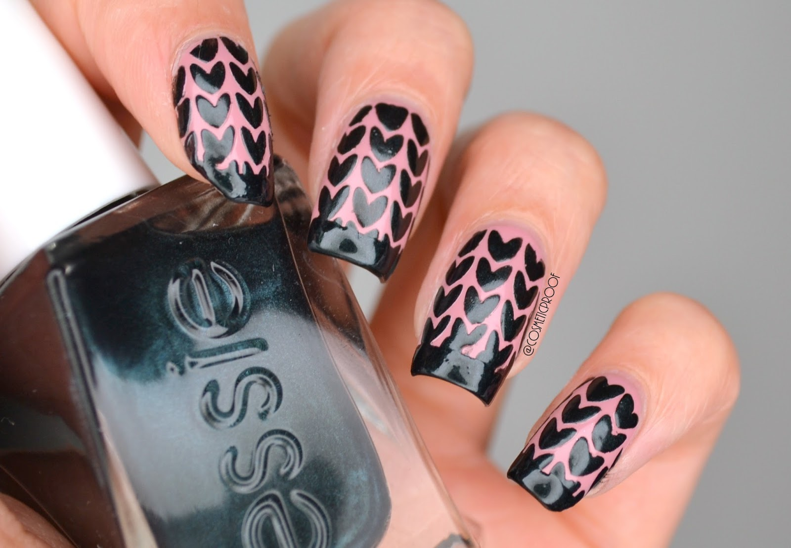 NAILS | Black, Black Hearts #ManiMonday | Cosmetic Proof | Vancouver ...