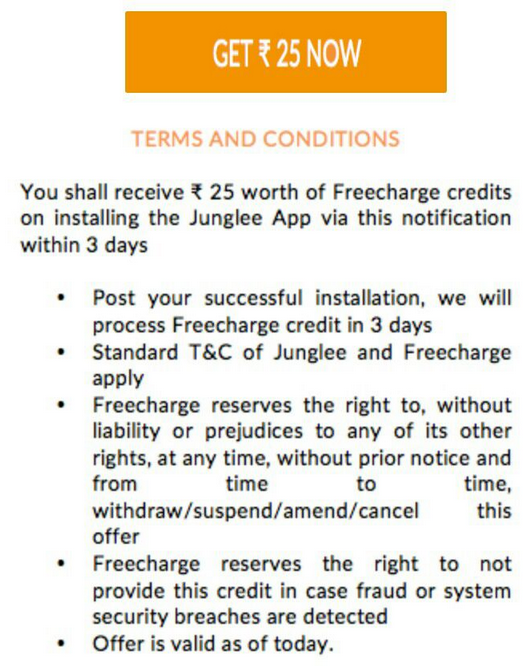 Download Junglee App And Get Free Recharge From Freecharge