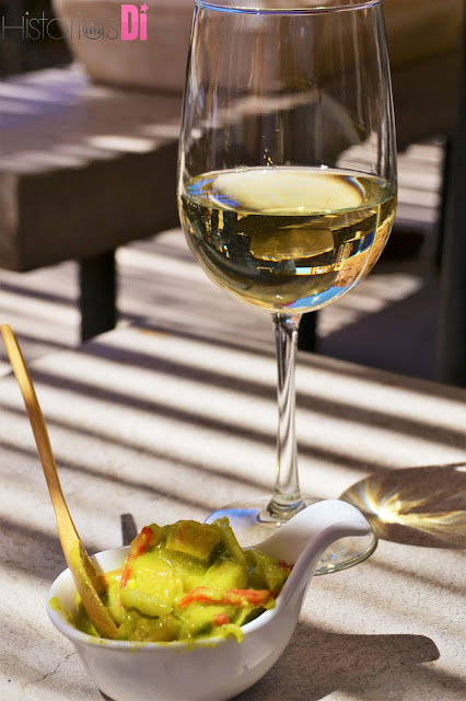 Ceviche com vinho branco