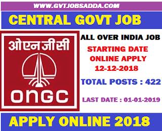 WWW.GVTJOBSADDA.COM/ONGC-Recruitment-2018