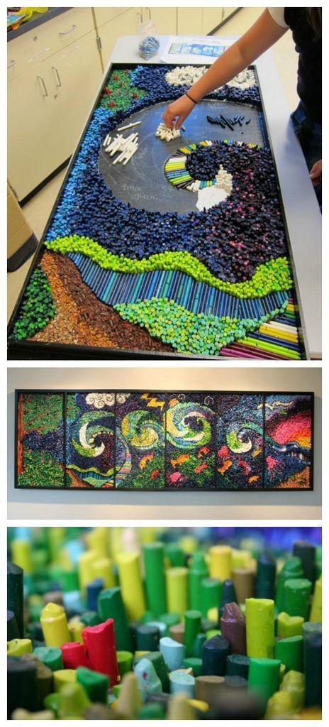 mosaic diy projects crayon