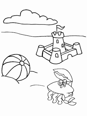 Summer Beach Coloring Pages