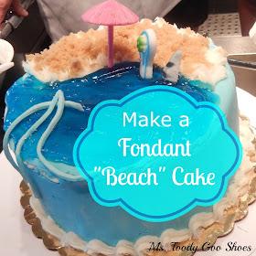 Make a Fondant Beach Cake --- Ms. Toody Goo Shoes