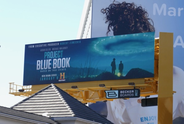 Project Blue Book TV billboard