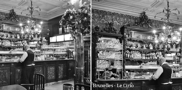"""""""Le Cirio"""" - L'une des plus anciennes tavernes bruxelloises - Classée au patrimoine des Monuments & Sites en 2011 - Le bar - Bruxelles-Bruxellons"""