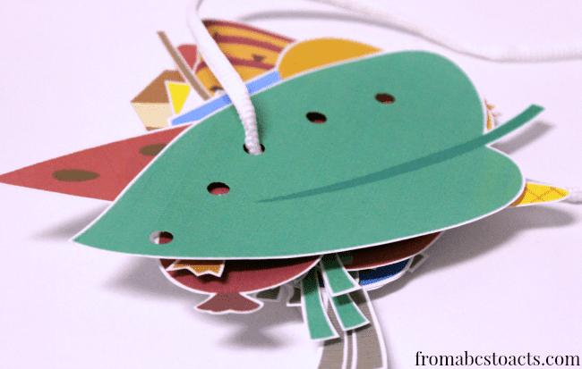 Halloween lacing cards totschooling toddler preschool for Caterpillar crafts for preschoolers