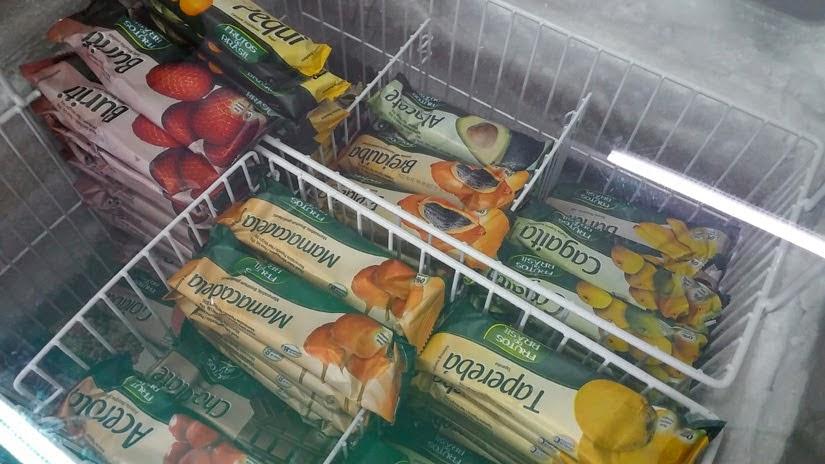 Picolé de frutas do cerrado