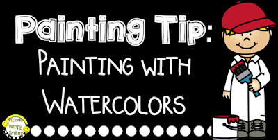 Painting Tip: Painting with Watercolors, Planet Happy Smiles