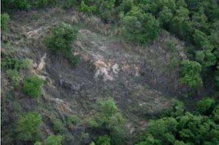 trecho devastado exploraçao amianto itapira