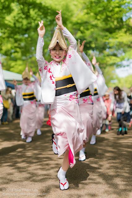 紅連、小金井子供フェスタでの阿波踊り、女踊りの丸山さん