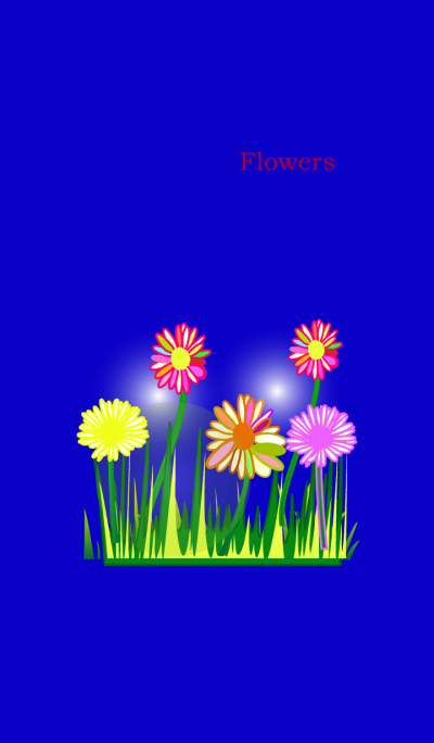 Blue flower flower flower